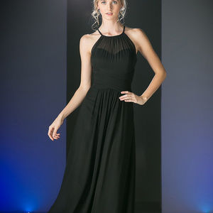 Black Long Prom Dress CDCH1501